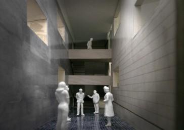 Kino Razzia, Modellbild, Eingangshalle