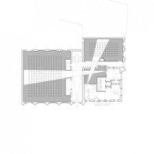 Kino Razzia, Grundriss, Erdgeschoss, 1:100