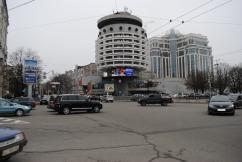 """Hotel """"Saljut"""", A. Milezki, N. Slogozkaja, W. Schewtschenko 1984 Kiew, Ukraine"""