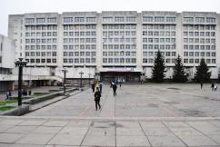 Universitätsgebäude, ca. 1980 Kiew, Ukraine