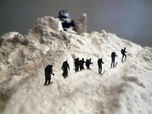 Fakis und Wolus Erklimmung des Monte Höhö