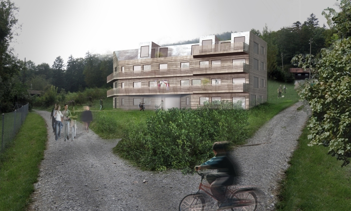 Mehrfamilienhaus in Leimbach, Visualisierung