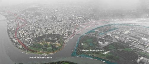 Der autonome Flussraum, Städtebauliche Interventionsperimeter