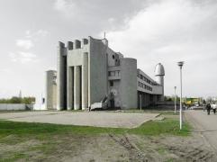 Schulhaus, ca. 1980 Charkiw, Ukraine