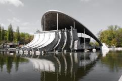 Sommertheater des Tschkalow Parks, O. Tetrow 1977 Dnipropetrowsk, Ukraine