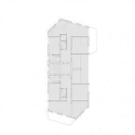 Mehrfamilienhaus in Leimbach, Grundriss, 2.Obergeschoss, 1:100