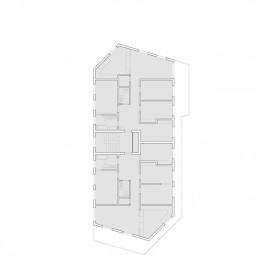 Mehrfamilienhaus in Leimbach, Grundriss, 1.Obergeschoss, 1:100