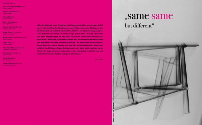 """Same, same but different"" Umschlag"