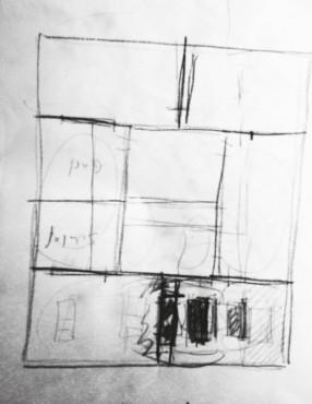 Wohnungsumbau Feusisberg, Skizze