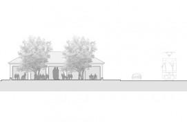 Umbau eines Garagenhauses, Schnitt AA, 1:100