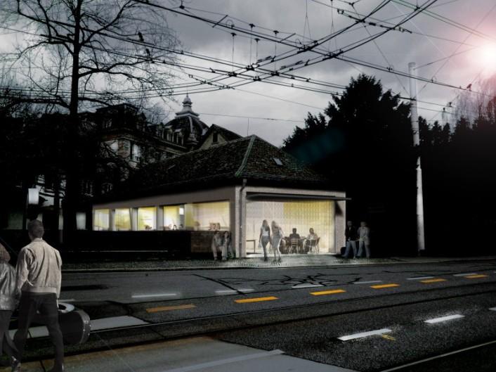 Umbau eines Garagenhauses, Visualisierung