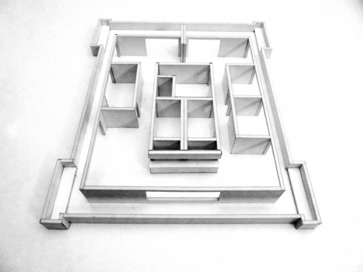 Wohnungsumbau Feusisberg, Modellstudie